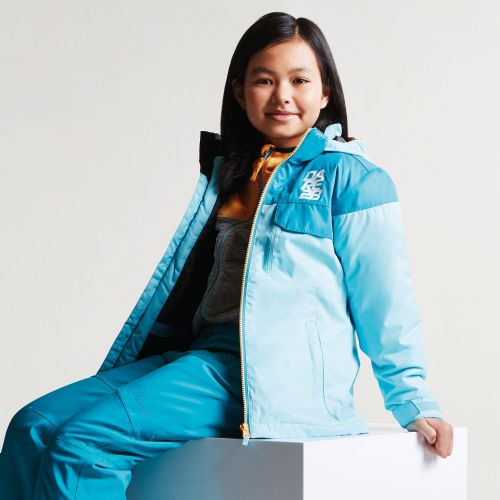 Dare2b KIDS TYKE SKI JACKET - Sea Breeze Blue / Bahama Blue
